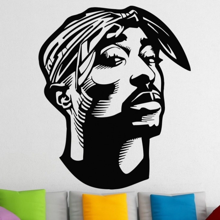 Incredible Tupac Stencil Art Step by Step Us $9.9 25% Off|Hip Hop Tupac Shakur Wall Stickers For Kids Boys Rooms 2Pac  Vinyl Wall Decals Living Room Home Decor Muursticker Wall Art A294-In Wall Photo
