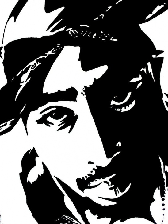 Incredible Tupac Stencil Art Techniques Tupac Artwork 11 By 00Makaveli00 | Tupac Art In 2019 | Tupac Art Image