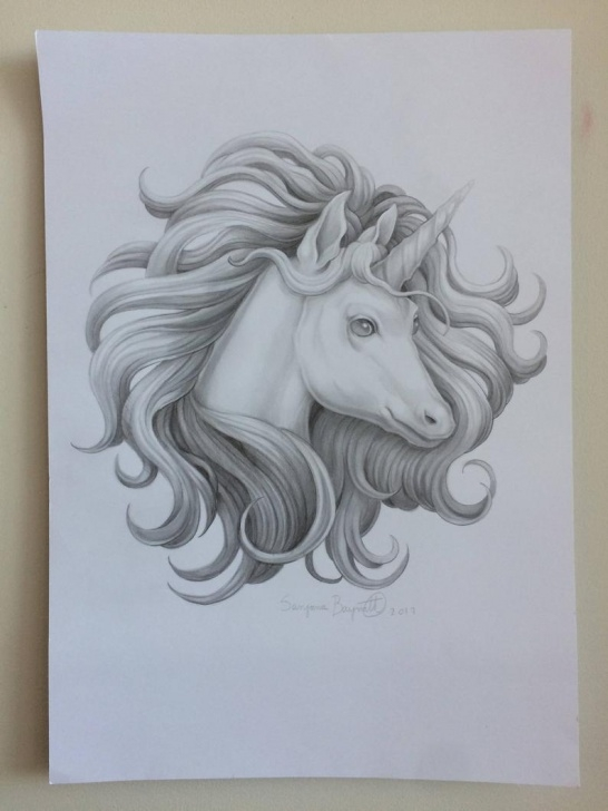 Unicorn Pencil Drawing