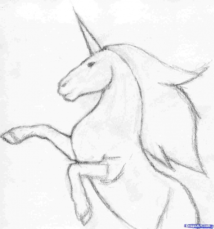 Incredible Unicorn Pencil Drawing Easy Unicorn Realistic Pencil Drawing Picture