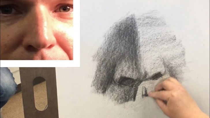 Incredible Vine Charcoal Drawing Tutorials Charcoal Drawing #12 - How To Draw A Nose With Vine Charcoal (Part 1 Of 3) Photo