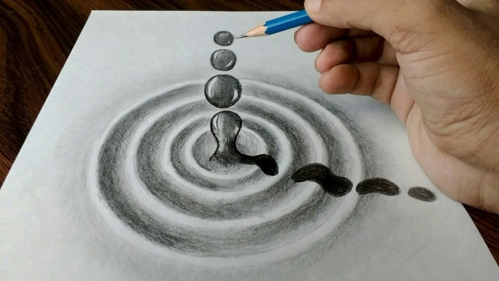 Incredible Water Drop Pencil Drawing for Beginners Water Drop Trick Art Drawing On Paper Picture
