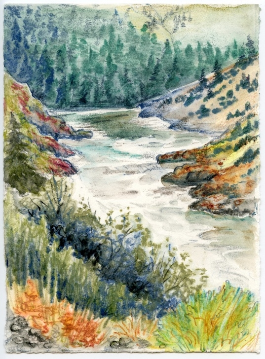 Incredible Watercolor Pencil Landscape Step by Step Technique Of The Week — Watercolour Pencils | Karen Gillmore Art Picture