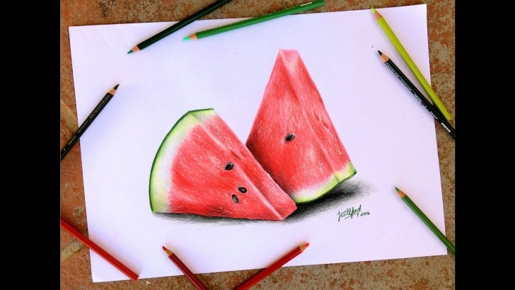 Watermelon Pencil Drawing