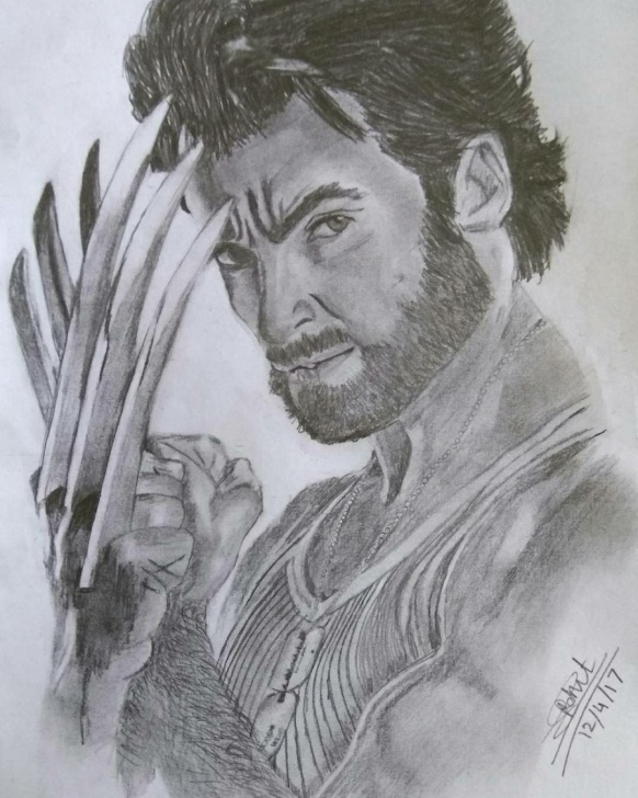 Incredible Wolverine Pencil Drawing Techniques Wolverine Pencil Sketch By Me!! #hughjackman | Pencil Sketches Images