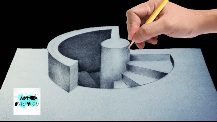 Inspiration 3D Painting On Paper With Pencil Ideas Trick Art Drawing – How To Draw 3D Stairs | 3D Pencil | 3D Pen Art |  Modernartpaintings Images