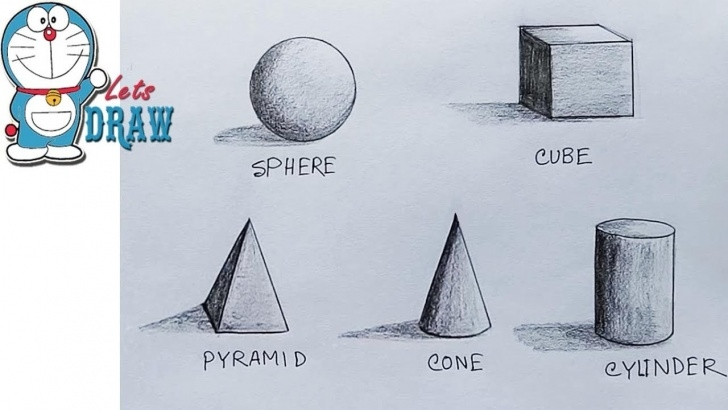 Inspiration 3D Shading Drawing Ideas How To Shade Basic Forms ( 3D Shapes ) Step By Step Images