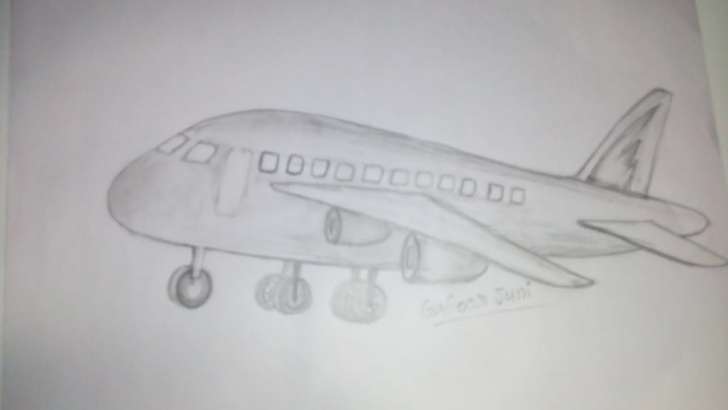 Inspiration Aeroplane Pencil Sketch Simple How To Aeroplane Pencil Drawing For You Photos