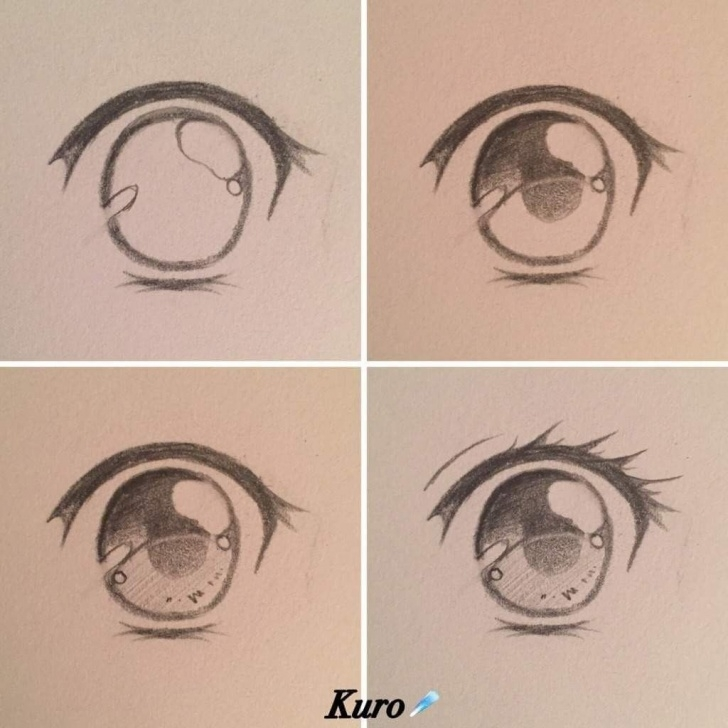 Inspiration Anime Eyes Pencil Lessons Pin By Carlamel Coco On Anatomy In 2019 | Drawings, Anime Drawings Pictures