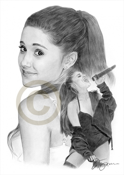 Inspiration Ariana Grande Pencil Drawing Techniques Pencil Drawing Of Ariana Grande By Artist Gary Tymon Pic