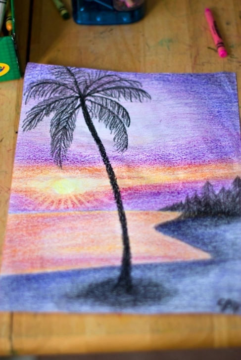 Beautiful Crayon Drawings