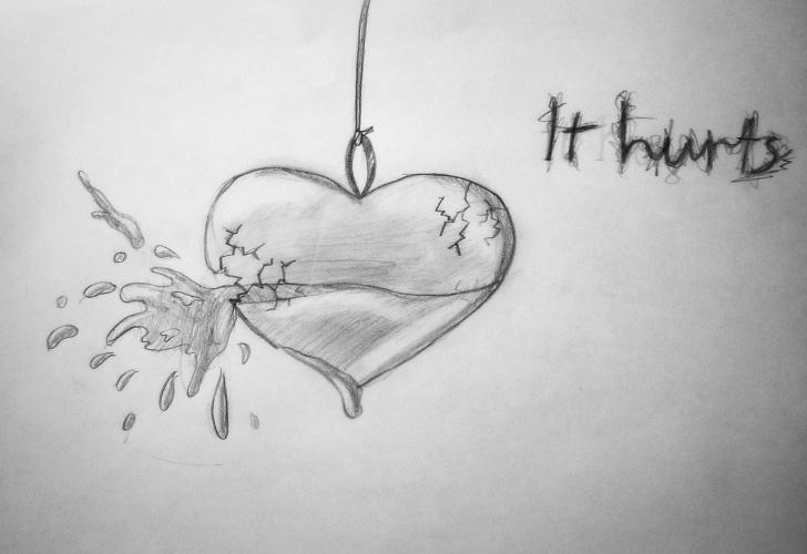Inspiration Broken Heart Drawings In Pencil Tutorial Broken Girl Drawing - Google Search | Drawings In 2019 | Heart Pictures