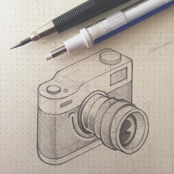 Inspiration Camera Pencil Sketch Tutorial Camera Pencil Drawing At Paintingvalley | Explore Collection Of Image