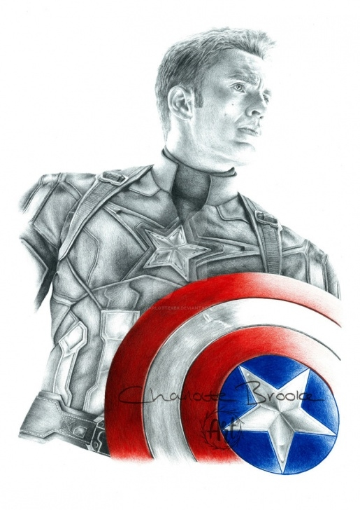 Inspiration Captain America Pencil Drawing Techniques Captain America Drawing At Paintingvalley | Explore Collection Picture