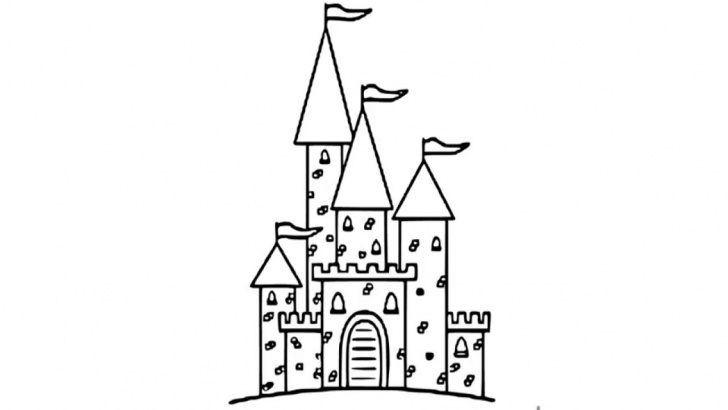 Inspiration Castle Pencil Drawing Simple How To Draw Castle Pencil Drawing For Kids Step By Step Pictures