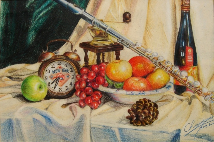 Inspiration Colored Pencil Still Life Lessons Color Pencil - Still Life - Megan Minmin C. Picture