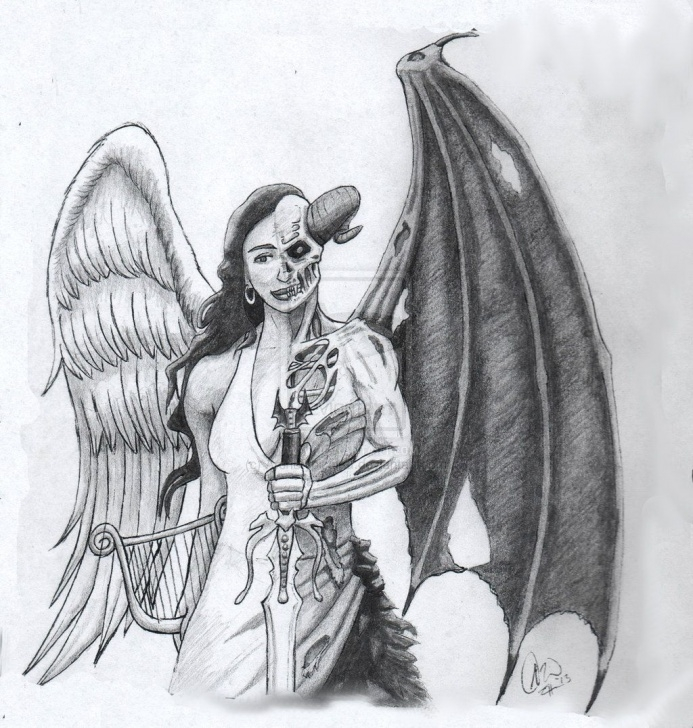 Inspiration Demon Pencil Drawing for Beginners Pencil Drawings Of Angels And Demons - Google Search | To Do In 2019 Pictures