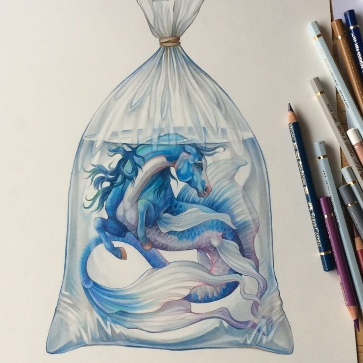 Inspiration Drawing Animals In Colored Pencil Tutorials Design Stack: A Blog About Art, Design And Architecture: Fantasy Pic