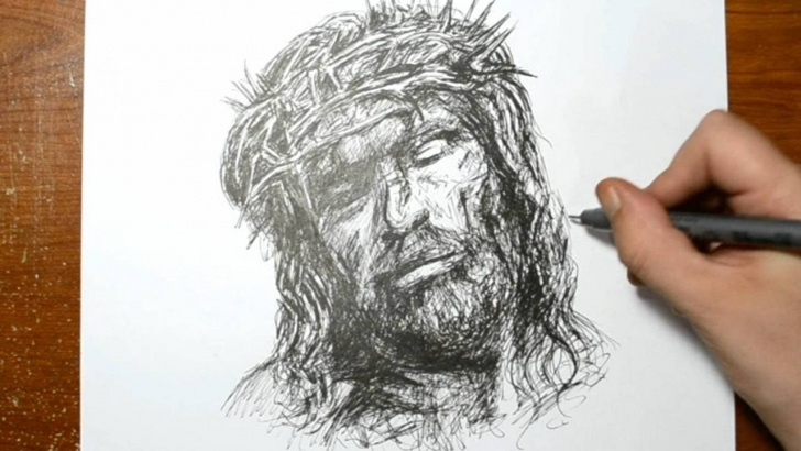 Inspiration Drawings Of God for Beginners Drawing The Son Of God - Quick Sketch Of Jesus Photo