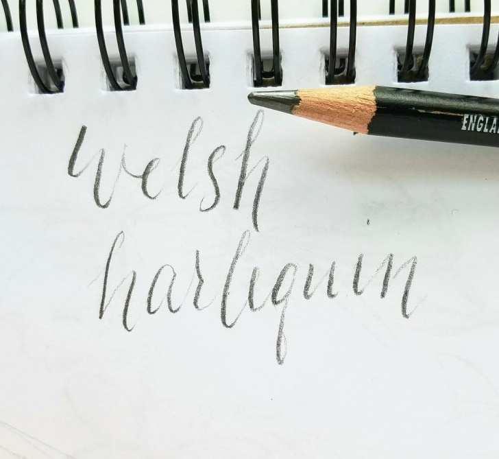 Inspiration Easy Calligraphy With Pencil Step by Step Easy Calligraphy With A Pencil - Learning With | Beginning With Photos
