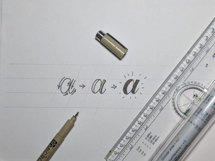 Inspiration Easy Calligraphy With Pencil Tutorial How To Do Faux (Fake) Calligraphy In 5 Easy Steps (2019) | Lettering Image