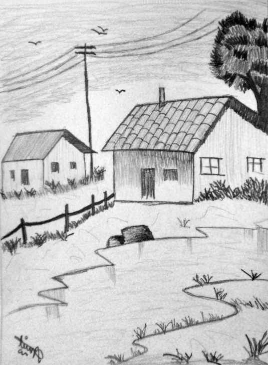 Inspiration Easy Landscape Drawing For Beginners Lessons Easy Landscape Drawing For Beginners At Paintingvalley | Explore Pictures