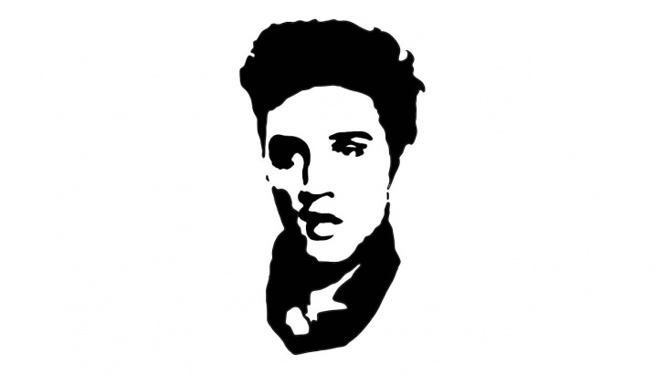Inspiration Famous Stencil Art Simple Elvis Presley - Drawing A Famous Pop Art Portrait Pictures