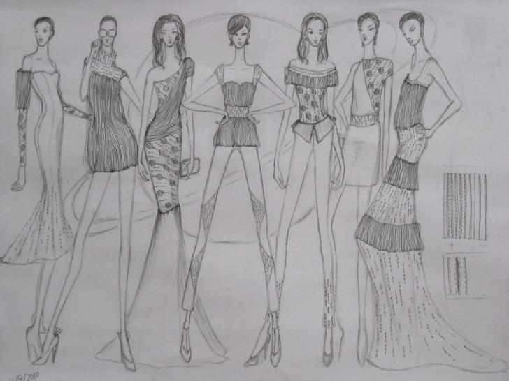 Inspiration Fashion Illustration Pencil Sketches Easy Fashion Illustration- Pencil Sketches By Luanne Lu At Coroflot Pic