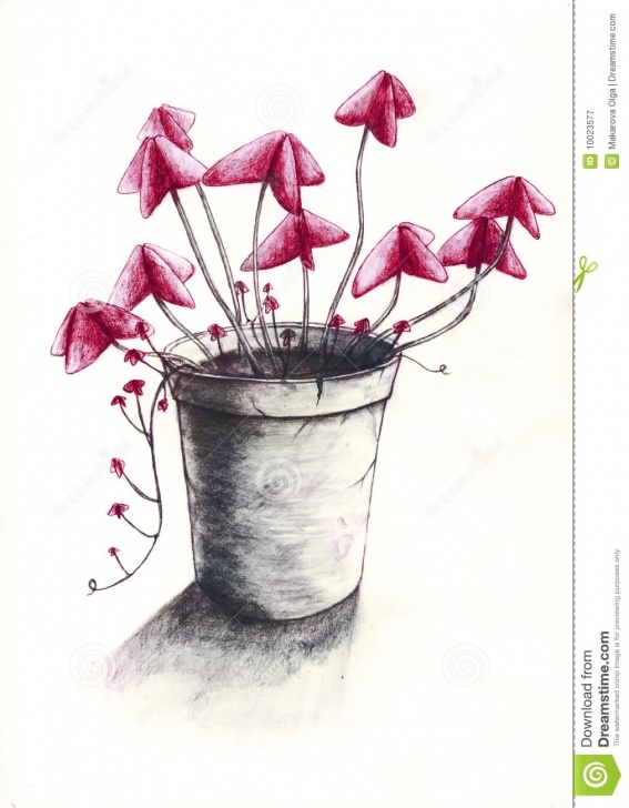 Inspiration Flower Pot Pencil Drawing Courses Flower Pot 2 Stock Illustration. Illustration Of Illustration - 10023577 Image