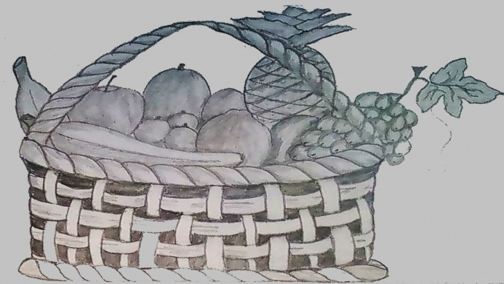 Inspiration Fruit Basket Pencil Shading Lessons How To Draw Fruit Basket Step By Step ?? (Pencil Sketch) ? Images