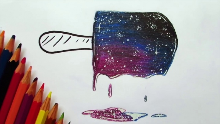 Inspiration Galaxy Drawings With Colored Pencils Ideas How To Draw Galaxy W/cheap Pencils | Emre Süner Image