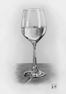 Inspiration Glass Pencil Drawing Simple Pencil Drawing- Wine And Water Glass (Original) — Steemit Photo
