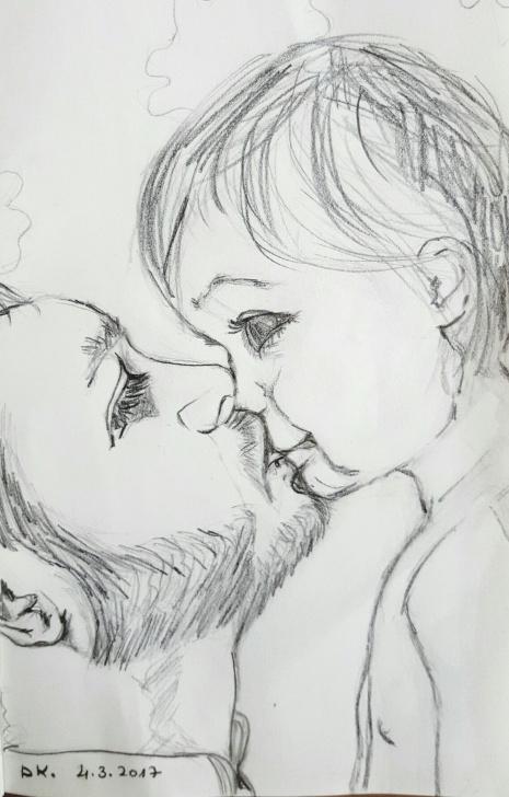 "Inspiration Good Morning Pencil Sketch Tutorial Pencil Drawing By Dorit Kenyagin #21 Pure Love. ""100 - Good Morning Photos"
