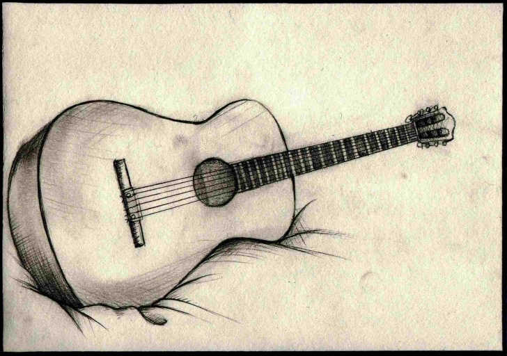 Inspiration Guitar Pencil Drawing Ideas Simple Pencil Sketches Of Guitar Pic