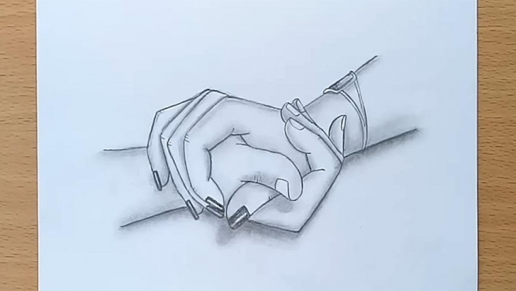 Inspiration Hand Pencil Sketch Step by Step Holding Hands Pencil Sketch / How To Draw Holding Hands Pic