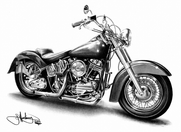 Inspiration Harley Davidson Pencil Drawings Tutorials Harley Davidson Drawings At Paintingvalley | Explore Collection Pictures