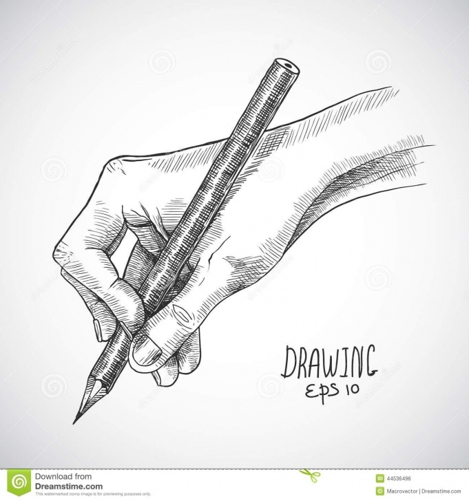 Inspiration Holding A Pencil Drawing Techniques for Beginners Sketch Hand Pencil Stock Vector. Illustration Of Object - 44536496 Picture