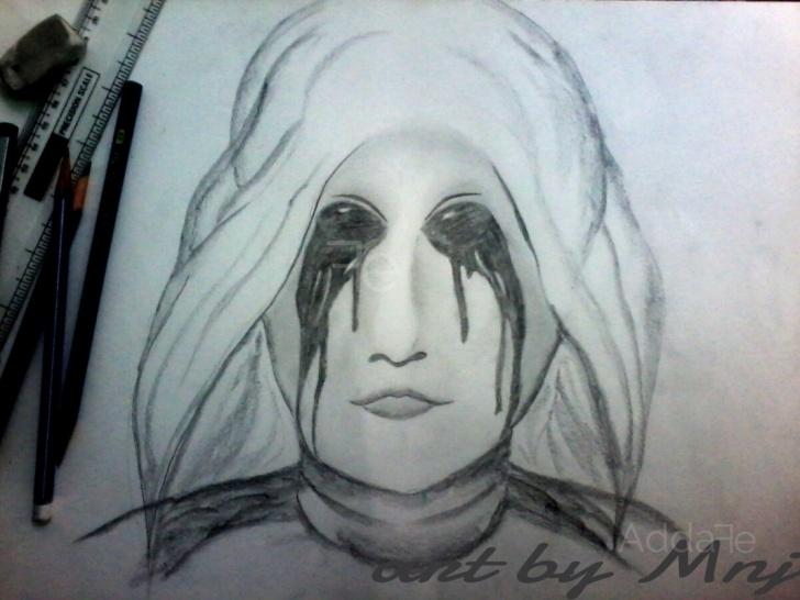 Inspiration Horror Pencil Drawings Simple Horror Pencil Sketch | Addafe Pics