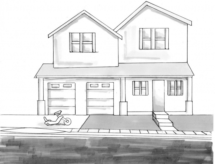 Inspiration House Pencil Drawing Tutorial House Pencil Drawing At Paintingvalley | Explore Collection Of Pictures