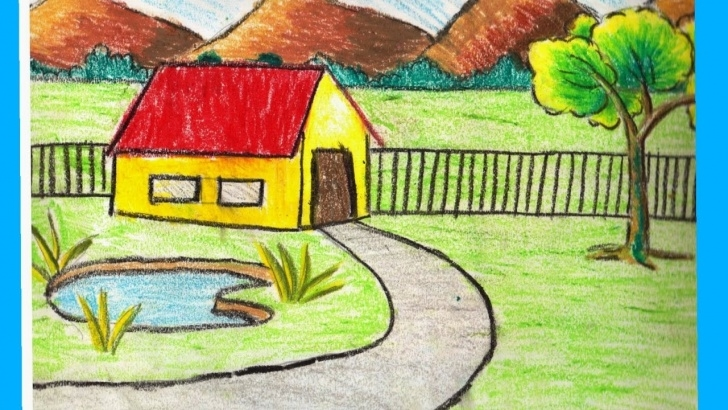 Inspiration Images For Drawing Natural Scenary Techniques Nature Sketch For Kids At Paintingvalley | Explore Collection Of Picture
