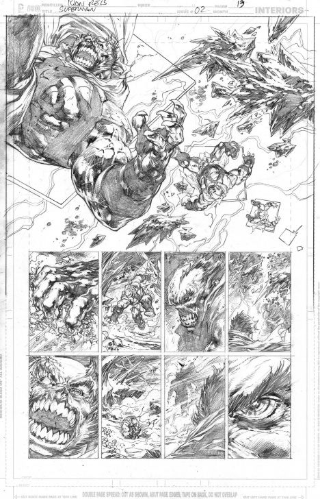 Inspiration Ivan Reis Pencils Tutorial Superman (2018) 2 Page 13 - Ivan Reis - Pencils Only, In Chiaroscuro Photo