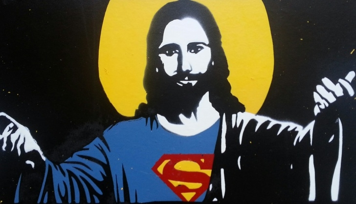 Inspiration Jesus Stencil Art Ideas Super Jesus, Stencil Work, Small - Imgur Image