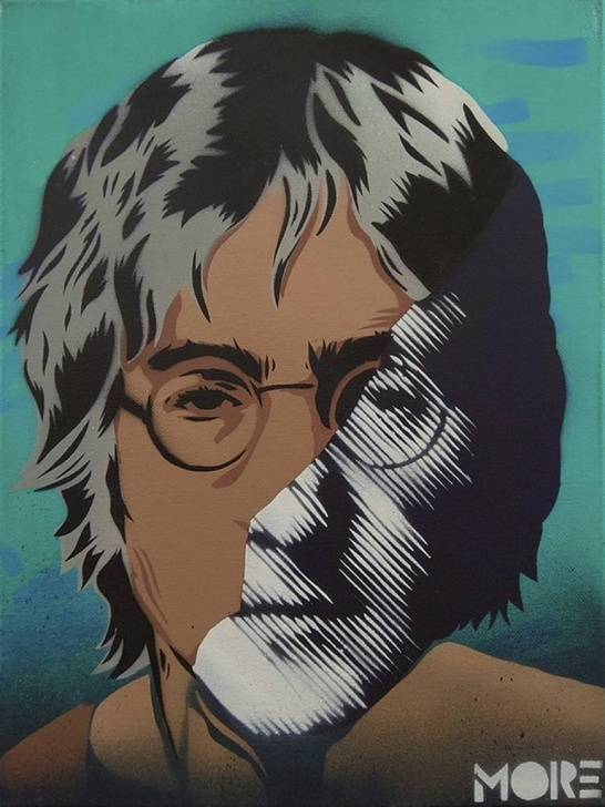 Inspiration John Lennon Stencil Art Tutorials John Lennon Stencil Photo