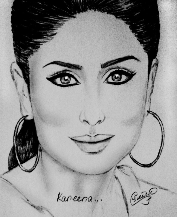 "Inspiration Kareena Kapoor Sketch Techniques Art By Seda On Twitter: ""sketches By Me Happy Birthday Kareena Image"