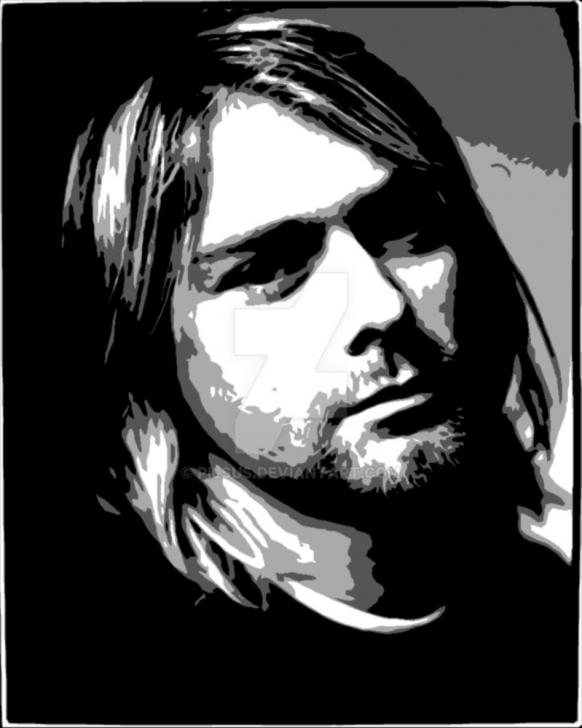 Inspiration Kurt Cobain Stencil Art Tutorials Kurt Cobain Nirvana By Pilsus On Deviantart Image