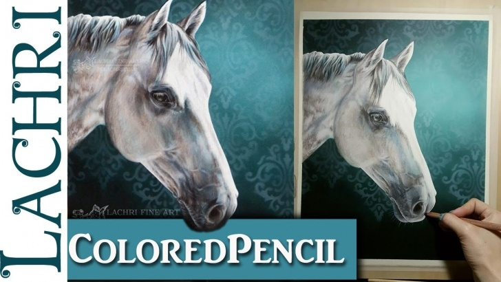 Inspiration Lachri Fine Art Colored Pencil for Beginners Colored Pencil Demonstration - White Horse - Lachri Photos