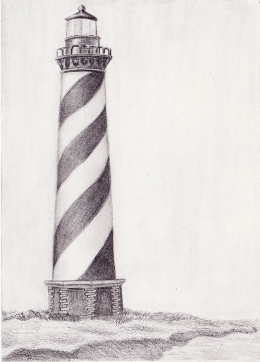 Inspiration Lighthouse Pencil Drawing Simple Lighthouse Pencil Drawing At Paintingvalley | Explore Collection Photo