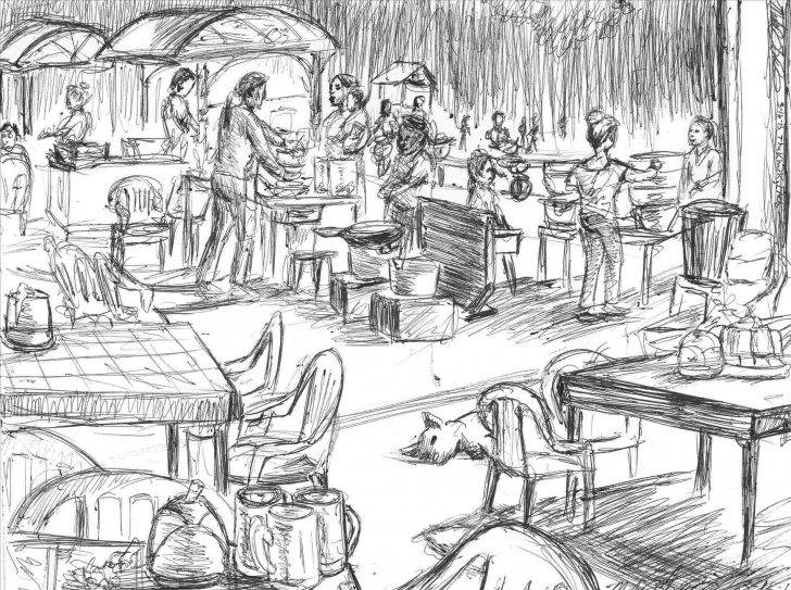 Inspiration Market Pencil Drawing Techniques Pencil Drawing Of A Market - Gigantesdescalzos Photos