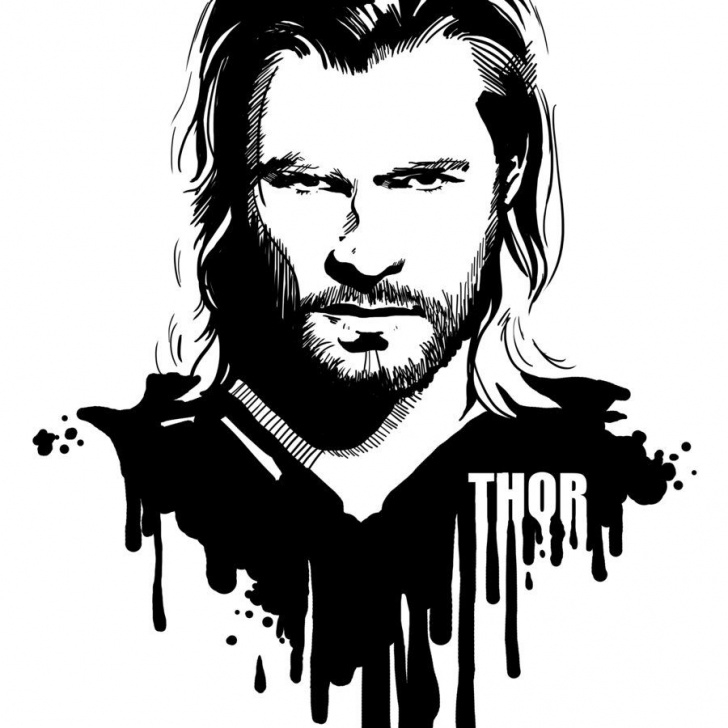 Inspiration Marvel Stencil Art Ideas Avengers In Ink: Thor By Loominosity.deviantart On @deviantart Photos