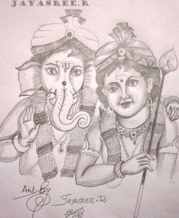 Inspiration Murugan Pencil Drawing Courses Paintings By Jayasree R Pic